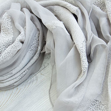 Accessories handmade. Livemaster - original item Exclusive silk scarf from Chanel fabric