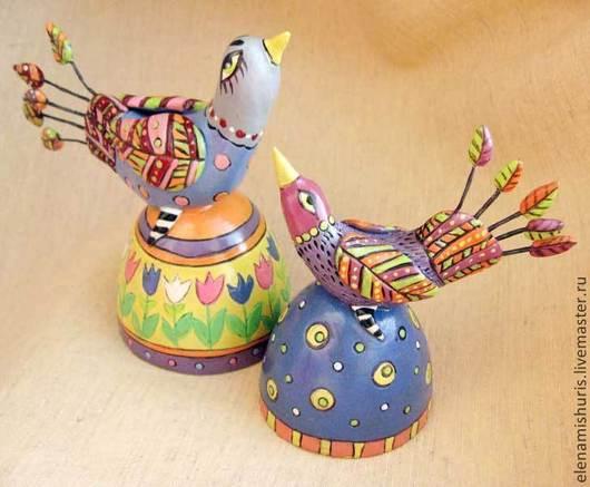 """Ударные инструменты ручной работы. Ярмарка Мастеров - ручная работа. Купить Колокольчики керамические """"Птица счастья"""". Handmade. Разноцветный"""