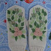Аксессуары ручной работы. Ярмарка Мастеров - ручная работа Варежки с вышивкой. Handmade.