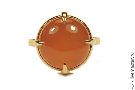 Кольца ручной работы. Ярмарка Мастеров - ручная работа. Купить Кольцо с Сердоликом свет камней. Handmade. Рыжий, Сердолик