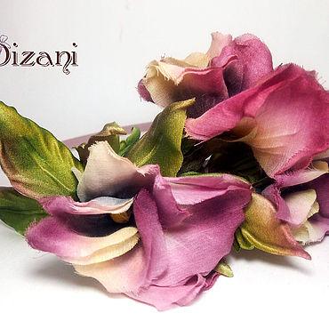 """Flowers and floristry handmade. Livemaster - original item Ободок """"Анютины глазки"""". Handmade."""