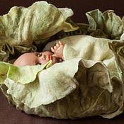 Работы для детей, handmade. Livemaster - original item Felted cabbage for a photo shoot of newborn. Handmade.
