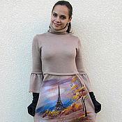 """Одежда ручной работы. Ярмарка Мастеров - ручная работа платье """" Осень в Париже"""". Handmade."""