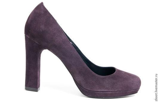 Обувь ручной работы. Ярмарка Мастеров - ручная работа. Купить Туфли Simona. Handmade. Тёмно-фиолетовый, туфли на каблуке