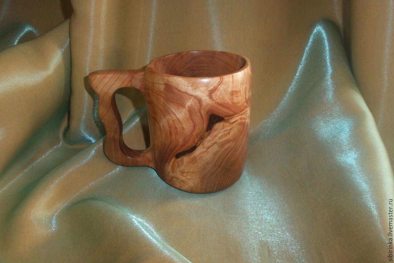 Как сделать деревянную кружку кружка из дерева Hand-made 84