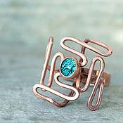 Кольца ручной работы. Ярмарка Мастеров - ручная работа Кольцо из меди, массивное кольцо, медное кольцо, крупное кольцо. Handmade.