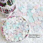 Материалы для творчества handmade. Livemaster - original item Knitted mini bows for decoration. Handmade.