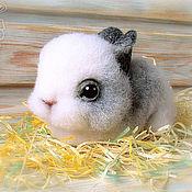 Куклы и игрушки handmade. Livemaster - original item snow rabbit wool, RESERVE. Handmade.