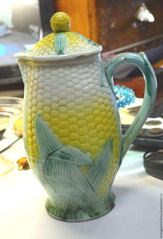 Винтажная посуда. Ярмарка Мастеров - ручная работа. Купить Кувшин  для молока Кукуруза. Handmade. Комбинированный, посуда, ручная роспись