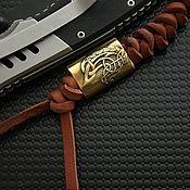 Сувениры и подарки handmade. Livemaster - original item Bead with a leather lanyard for a bronze knife, a bead for a knife. Handmade.
