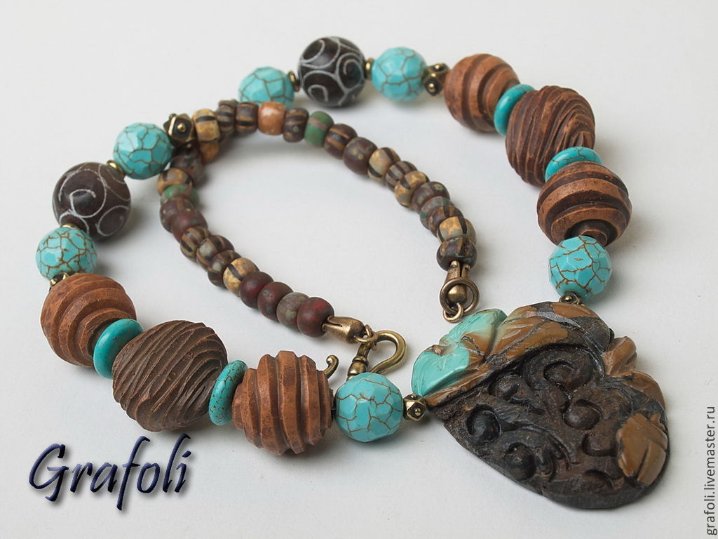 Beads with stones and bracelets Tales of the black forest, Jewelry Sets, Moscow,  Фото №1