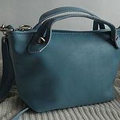 Сумки и аксессуары handmade. Livemaster - original item Leather bag. Crossbody bag. Blue. Handmade.