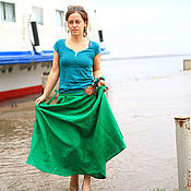 Skirts handmade. Livemaster - original item Skirt Green. Handmade.