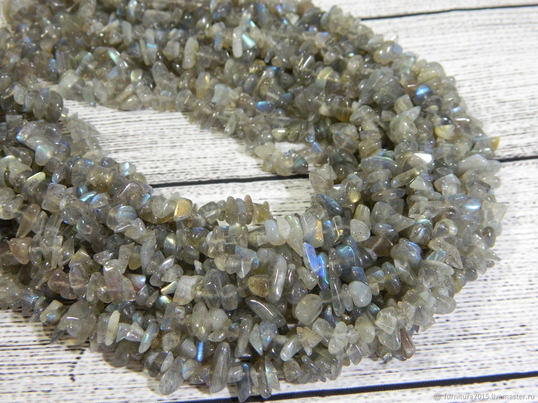 Лабрадорит крошка природный камень. нить, Бусины, Саратов,  Фото №1