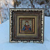 Подарки к праздникам ручной работы. Ярмарка Мастеров - ручная работа именная икона-миниатюра мужская. Handmade.