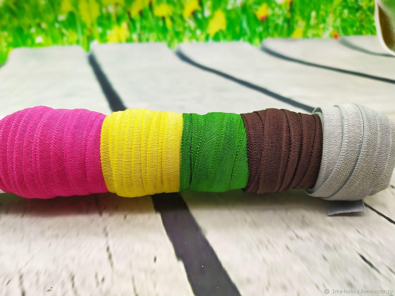 Бейка эластичная цветная, Отделка для шитья, Москва,  Фото №1