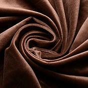 Ткани ручной работы. Ярмарка Мастеров - ручная работа Бархат хлопковый Шоколадный. Handmade.