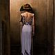"""Платья ручной работы. Платье с вышивкой из коллекции """"Дым"""". Ирловин. Ярмарка Мастеров. Шелковое платье, молочный, свидание, Праздник"""