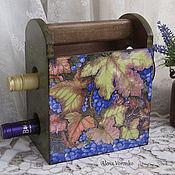 """Для дома и интерьера ручной работы. Ярмарка Мастеров - ручная работа Короб для вина """"Спелое вино"""". Handmade."""
