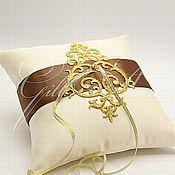 Свадебный салон ручной работы. Ярмарка Мастеров - ручная работа Подушечка для колец  Chocolate Queen. Handmade.