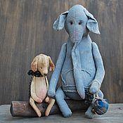 Куклы и игрушки ручной работы. Ярмарка Мастеров - ручная работа Слон и Моська. Handmade.