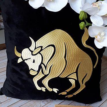 Для дома и интерьера handmade. Livemaster - original item Cushion with embroidery. Handmade.