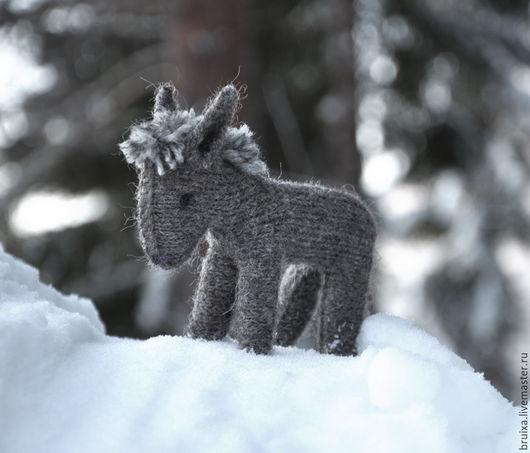 Игрушки животные, ручной работы. Ярмарка Мастеров - ручная работа. Купить Игрушка ослик вязаный Серый. Handmade. Серый