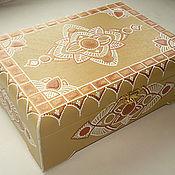 """Для дома и интерьера ручной работы. Ярмарка Мастеров - ручная работа Чайная шкатулка """"Самоцветы"""". Handmade."""