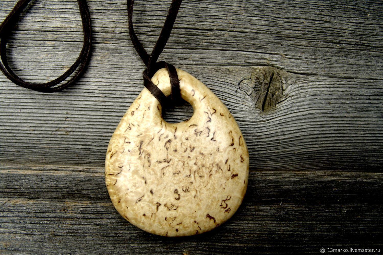 Pendant made of Karelian birch, Pendant, Moscow,  Фото №1