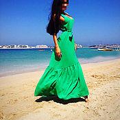 Одежда ручной работы. Ярмарка Мастеров - ручная работа Платье сарафан из хлопка. Handmade.