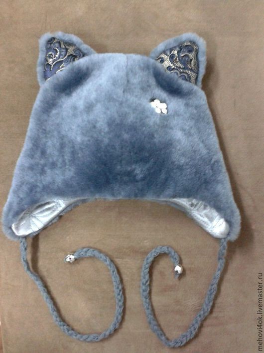 Одежда для девочек, ручной работы. Ярмарка Мастеров - ручная работа. Купить Детская меховая шапка с ушками, шапочка для ребенка. Handmade.
