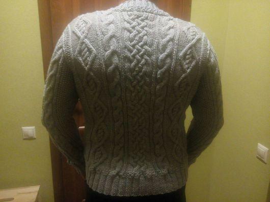 Для мужчин, ручной работы. Ярмарка Мастеров - ручная работа. Купить мужской пуловер с косами. Handmade. Мужской, осень-зима