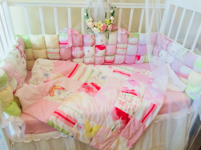 Лоскутное одеяло .одеяло в кроватку, Одеяла, Самара,  Фото №1