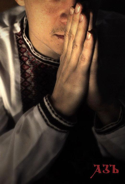 """Одежда ручной работы. Ярмарка Мастеров - ручная работа. Купить Мужская вышиванка """"Радомир"""". Handmade. Белый, рубаха в русском стиле"""