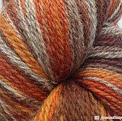 Пряжа ручной работы. Ярмарка Мастеров - ручная работа Кауни Grey-orange 8/1, 8/2. Handmade.