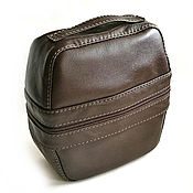 Сумки и аксессуары handmade. Livemaster - original item Cosmetic bag road dark chocolate. Handmade.