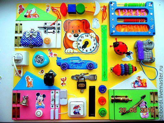 Развивающие игрушки ручной работы. Ярмарка Мастеров - ручная работа. Купить Бизиборд от Георгия 22. Handmade. Комбинированный, Монтессори