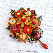 """Украшения handmade. Livemaster - original item Brooch """"July flowers"""". Handmade."""