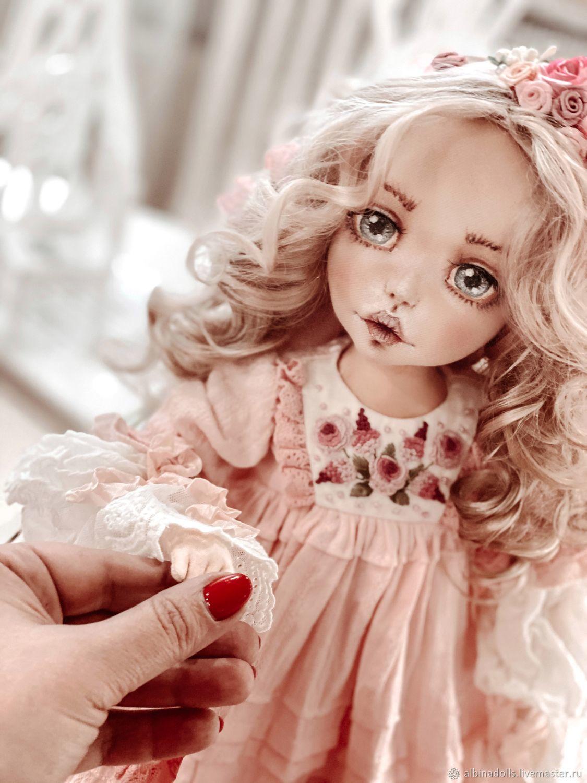 doll Lisa. Author's textile doll collectible, Boudoir doll, Taganrog,  Фото №1
