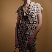 Одежда ручной работы. Ярмарка Мастеров - ручная работа Вязаное крючком платье Кахолонг. Handmade.