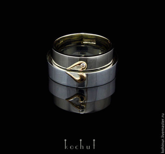 #wedding rings by #kochut jewelry gold 14K, white gold 14K, silver925, diamond We can make this ring to order We ship to any country in the world