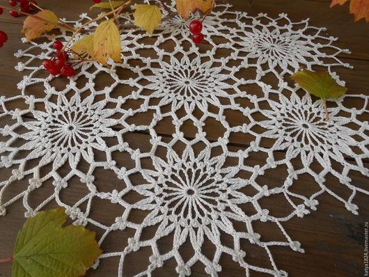 """Текстиль, ковры ручной работы. Ярмарка Мастеров - ручная работа. Купить """"Осенняя..."""" салфеточка. Handmade. Светло-кремовый"""