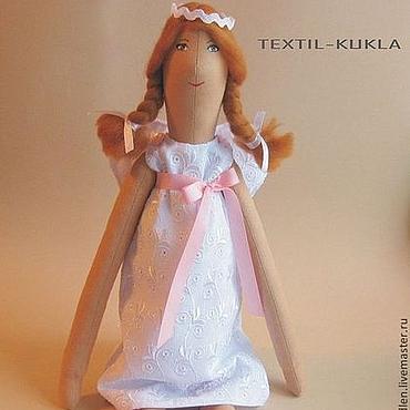 Куклы и игрушки ручной работы. Ярмарка Мастеров - ручная работа рыжий Ангел-хранитель(60см) - текстильная кукла в подарок на крестины. Handmade.