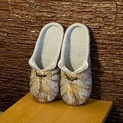 Slippers handmade. Livemaster - original item Women`s felted Slippers