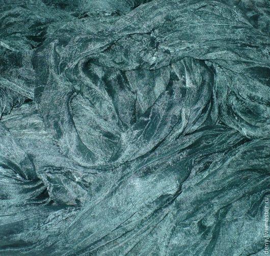 """Валяние ручной работы. Ярмарка Мастеров - ручная работа. Купить Газ разреженный """"Морская волна"""" 100см, ручное окрашивание. Handmade."""