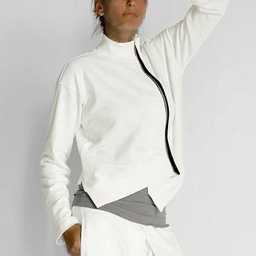 Одежда ручной работы. Ярмарка Мастеров - ручная работа Асимметричный свитшот Made Up. Handmade.