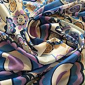 Материалы для творчества handmade. Livemaster - original item Italian silk natural with print. Handmade.