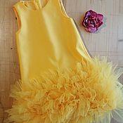 Платья ручной работы. Ярмарка Мастеров - ручная работа Жёлтое платье. Handmade.