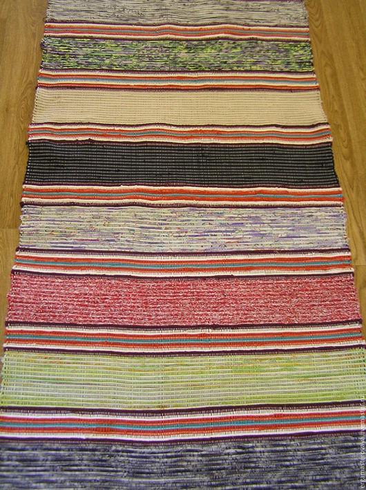"""Текстиль, ковры ручной работы. Ярмарка Мастеров - ручная работа. Купить Домотканый половик """"Ёрга"""". Handmade. Ярко-красный, подарок"""