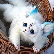 Куклы и игрушки ручной работы. Ярмарка Мастеров - ручная работа Полтора кота породы рекс. Handmade.
